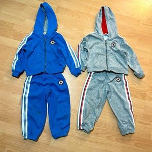 2 Converse tracksuits size 2